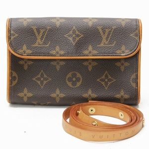 100% Aut Louis Vuitton PochetteMonogram Waist Belt